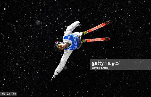 Laura Peel of Australia competes during the Women's Aerials Final on day three of the FIS Freestyle Ski and Snowboard World Championships 2017 on...
