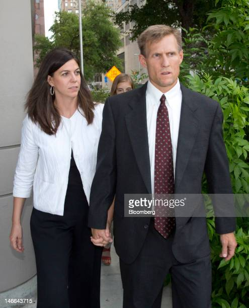 Laura PendergestHolt the former chief investment officer for Stanford Financial Group Co left leaves the Bob Casey Federal Courthouse with her...