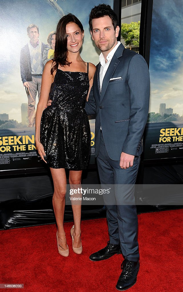 Laura Perloe and actor Chris Mann arrive at Film Independent's 2012 Los Angeles Film Festival premiere of Focus Features' 'Seeking A Friend For The End Of The World' at Regal Cinemas L.A. Live on June 18, 2012 in Los Angeles, California.