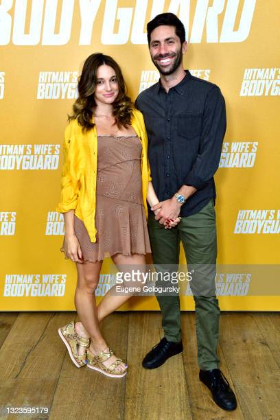 """Laura Perlongo and Nev Schulman attend the """"Hitman's Wife's Bodyguard"""" special screening at Crosby Street Hotel on June 14, 2021 in New York City."""