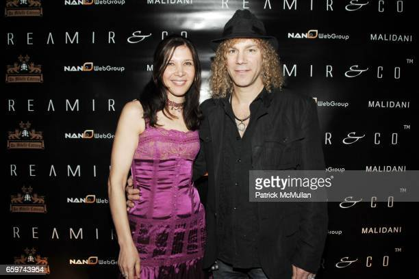 Laura Phillips and David Bryan attend REAMIR CO Launch Party for their new SIGNITURE PRODUCTS Performance by MICHAEL IMPERIOLI LA DOLCE VITA at Touch...