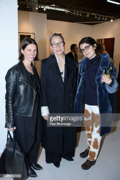 Laura Phipps, Brooke Garber Neidich and Clemence White attend The Armory Show 2020 Preview Day on March 4, 2020 at Pier 90 in New York City.