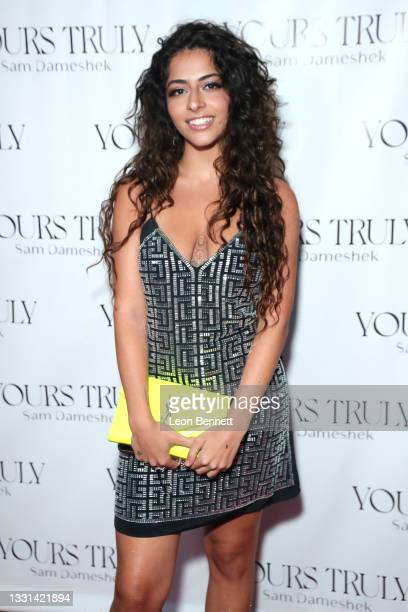 """Laura Pieri attends Celebrity Photographer Sam Dameshek's Black Tie Book Release Event For """"Yours Truly"""" at Fellow on July 29, 2021 in Los Angeles,..."""