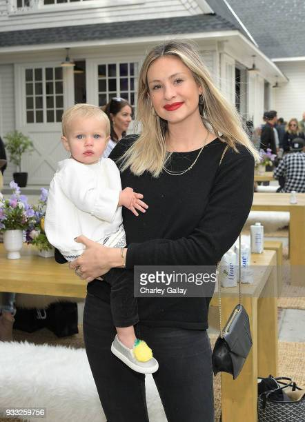Laura Polko and Breeze Polko attend AKID Brand's 3rd Annual 'The Egg Hunt' at Lombardi House on March 17 2018 in Los Angeles California