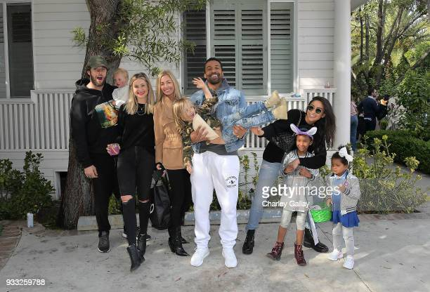 Laura Polko Ashleigh Dempster Matte Babel and Shay Mitchell with friends and family at AKID Brand's 3rd Annual 'The Egg Hunt' at Lombardi House on...