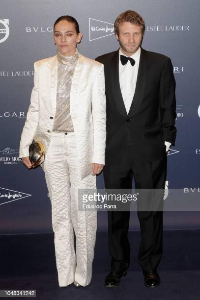 Laura Ponte and Luis Beltran Ataulfo Alfonso GomezAcebo Borbon attend the 'TELVA Tributo Una cronica de moda Coleccion Naty Abascal' photocall at...
