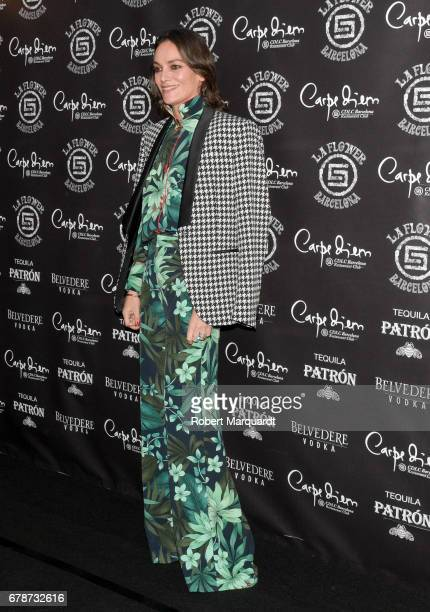 Laura Ponte attends a photocall for the 'Flower Power' party held at the Carpe Diem nightclub on May 4 2017 in Barcelona Spain
