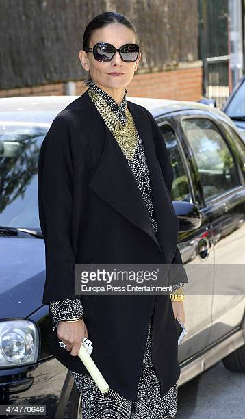 Laura Ponte attends the First Communion of Luis and Laura GomezAcebo on May 23 2015 in Madrid Spain