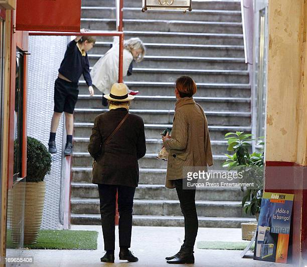 Laura Ponte her mother Marcela Martinez Zapico and her kids Laura GomezAcebo and Luis GomezAcebo are seen on May 29 2013 in Madrid Spain