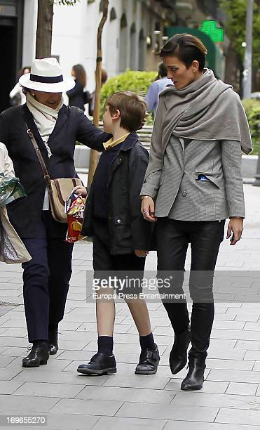 Laura Ponte her mother Marcela Martinez Zapico and her son Luis GomezAcebo are seen on May 29 2013 in Madrid Spain
