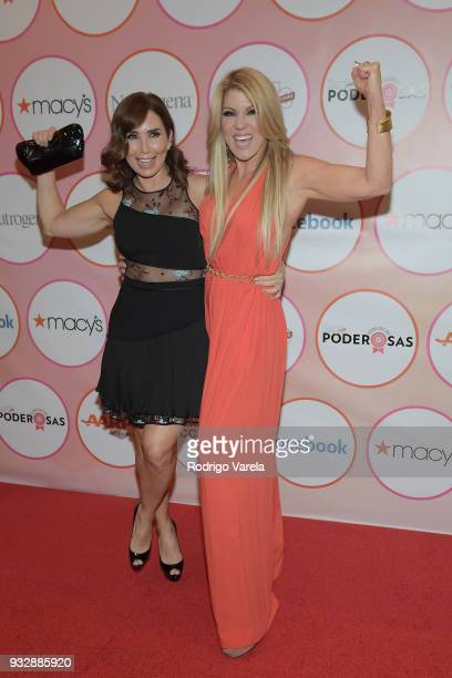 Laura Posada and Carlonia Z Cardozo arrive at the People en Espanol's 25 Most Powerful Women Luncheon 2018 on March 16 2018 in Miami Florida