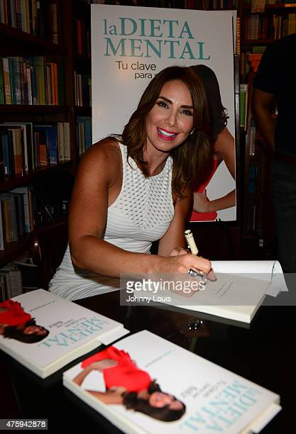 Laura Posada greets fans and signs copies of her book 'La dieta mental' at Books and BooksGables on June 4 2015 in Coral Gables Florida