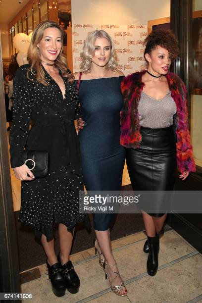 Laura Pradelska and Ashley James attend Folli Follie #BeSpringReady party on April 27 2017 in London England