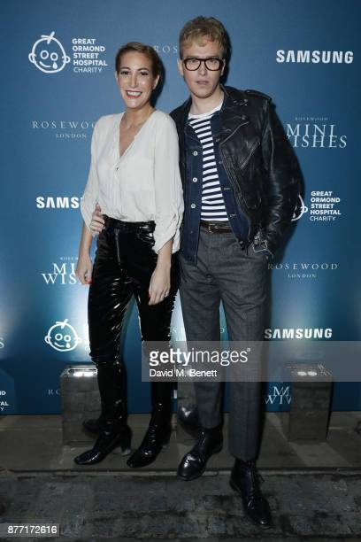 Laura Pradelska and Fletcher Cowan attend a Christmas Party at Rosewood London to celebrate the launch of Rosewood Mini Wishes in aid of Great Ormond...