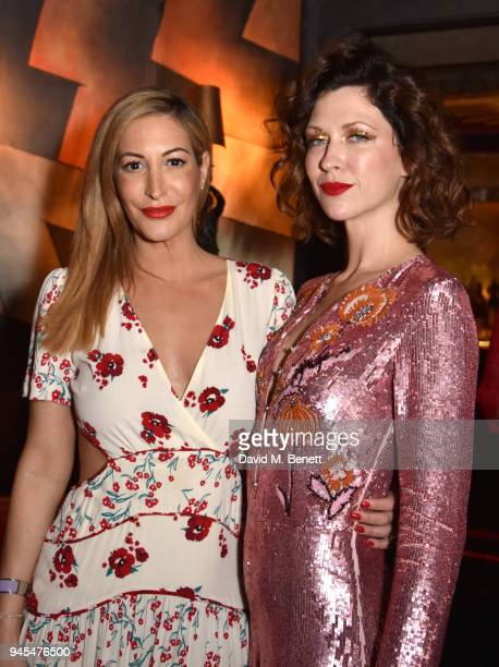 Laura Pradelska and Margo Stilley at Loulou's on April 12 2018 in London England