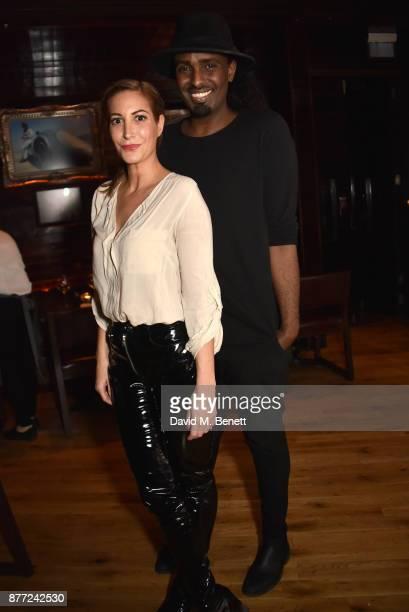 Laura Pradelska and Mason Smillie attend Mason Smillie's birthday party at McQueen on November 21 2017 in London England