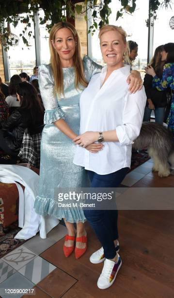 """Laura Pradelska and Sarah-Jane Mee attend a live broadcast of """"The Happy Vagina"""" podcast at Treehouse Hotel London on March 8, 2020 in London,..."""