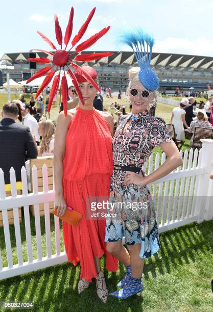 Laura Pradelska and Victoria Grant attend day 3 of Royal Ascot at Ascot Racecourse on June 21 2018 in Ascot England