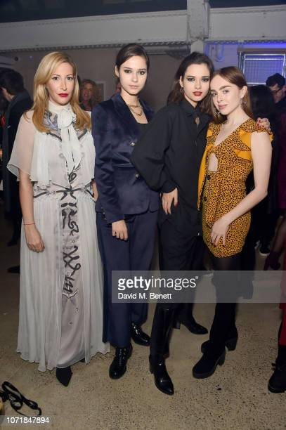 Laura Pradelska Anna and Sofia Kuprienko from Bloom Twins and Louisa ConnollyBurnham attend the premiere of Indecision IV presented by HEIST Gallery...
