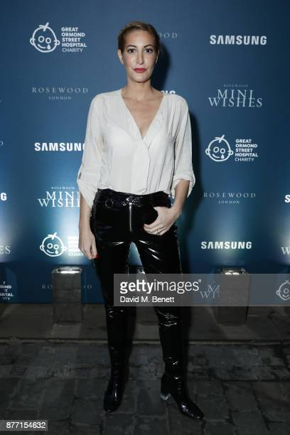 Laura Pradelska attends a Christmas Party at Rosewood London to celebrate the launch of Rosewood Mini Wishes in aid of Great Ormond Street Hospital...