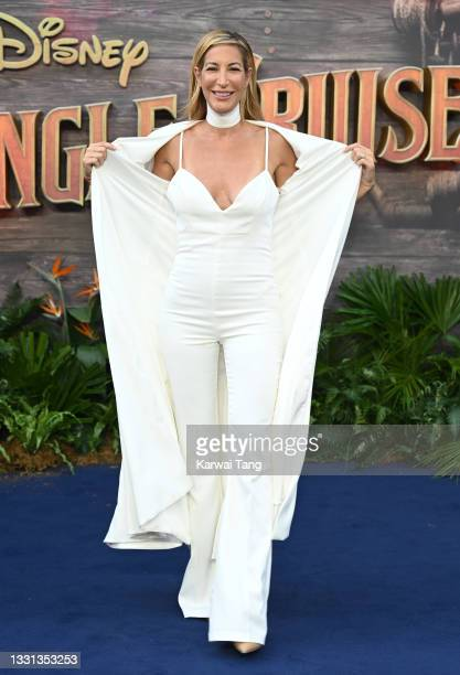 """Laura Pradelska attends Disney's """"Jungle Cruise"""" UK premiere at Cineworld Leicester Square on July 29, 2021 in London, England."""
