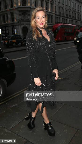 Laura Pradelska attends Folli Follie #BeSpringReady party on April 27 2017 in London England