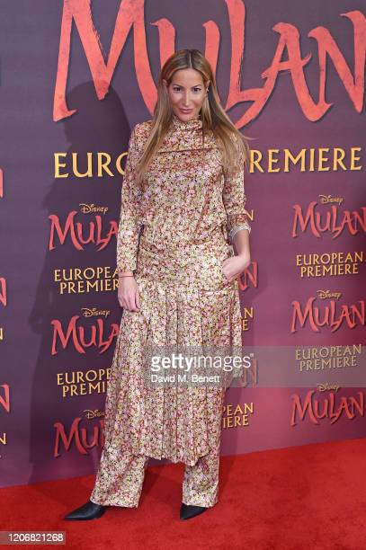 Laura Pradelska attends the European Premiere of Mulan at Odeon Luxe Leicester Square on March 12 2020 in London England