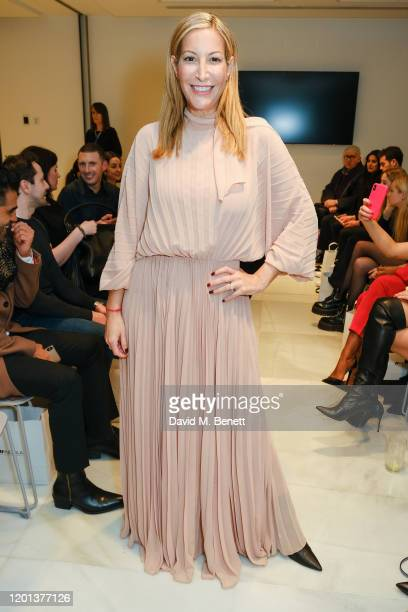 Laura Pradelska attends the Kolchagov Barba show during London Fashion Week February 2020 at Melia White House Hotel on February 16 2020 in London...