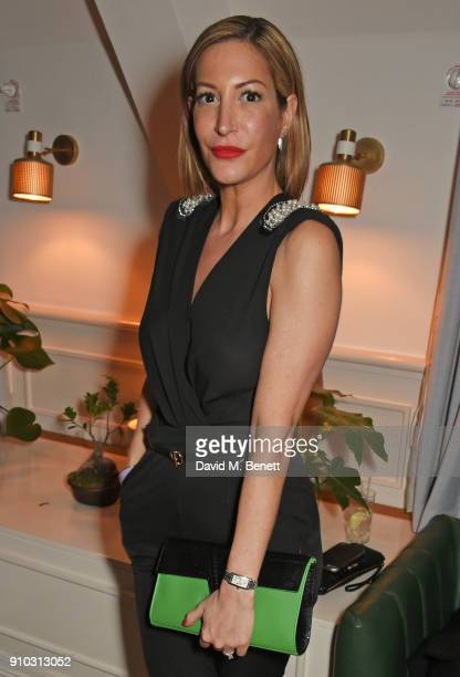 Laura Pradelska attends the launch of Teresa Tarmey's new 'at home facial system' at Mortimer House sponsored by CIROC on January 25 2018 in London...