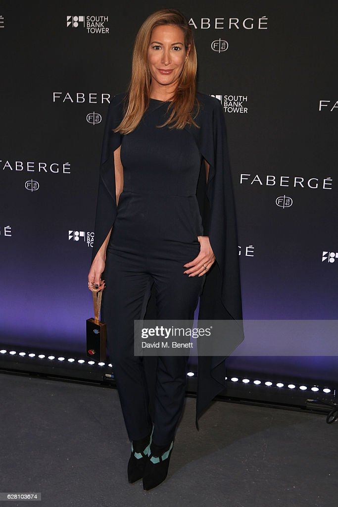 Laura Pradelska attends the launch of the 'Faberge Visionnaire DTZ', Faberge's new timepiece, at South Bank Tower on December 6, 2016 in London, England.