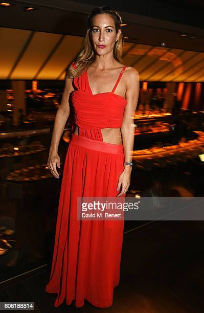 Laura Pradelska attends the PPQ postshow after party during London Fashion Week Spring/Summer collections 2017 at Quaglino's on September 16 2016 in...