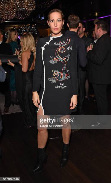 Laura Pradelska attends the Tempus Magazine annual Christmas Party at The Rumpus Room Mondrian Hotel on December 7 2017 in London England