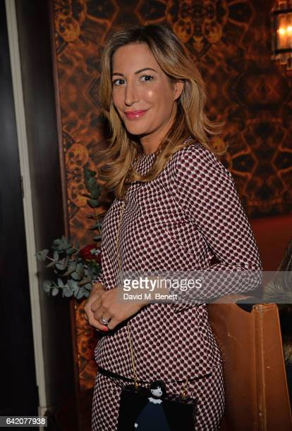 Laura Pradelska attends the Victoria Grant x Diana Gomez 'Shoot It Up Knock'em Down' party at the Sanctum Soho on February 16 2017 in London England