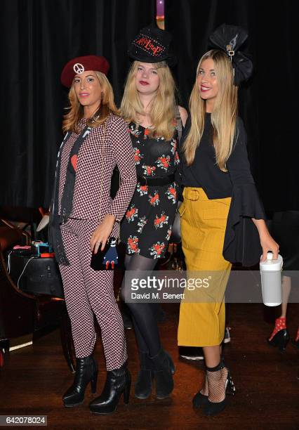Laura Pradelska guest and guest attend the Victoria Grant x Diana Gomez 'Shoot It Up Knock'em Down' party at the Sanctum Soho on February 16 2017 in...
