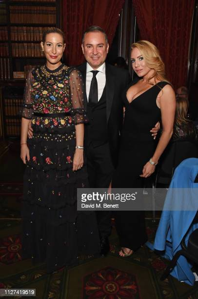Laura Pradelska Nick Ede and Coralie Jo attend the 7th annual 'Dining With The Stars' charity dinner in aid of Cancer Research UK's Bobby Moore Fund...