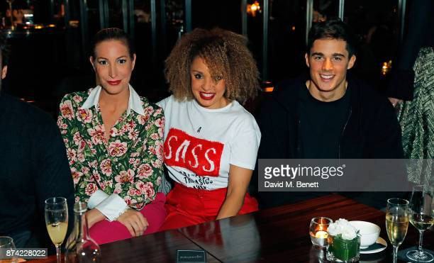 Laura Pradelska Pandora Christie and Pietro Boselli attend the unveiling of 'The Tree of Glass' by Lee Broom with Nude at Aqua Shard on November 14...