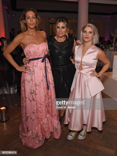 Laura Pradelska Zoe Hardman and Pips Taylor attend The Floral Ball in aid of the Sheba Medical Centre at One Marylebone on March 14 2017 in London...