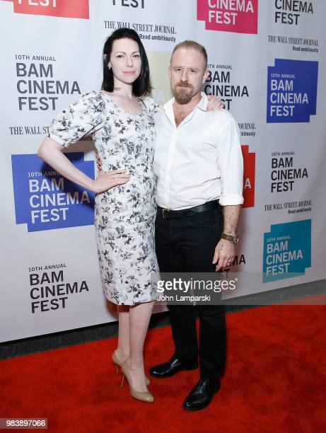 "Laura Prepon and Ben Foster attend 2018 BAM Cinema Fest Centerpiece screening of ""Leave No Trace"" at BAM Harvey Theater on June 25, 2018 in New York..."