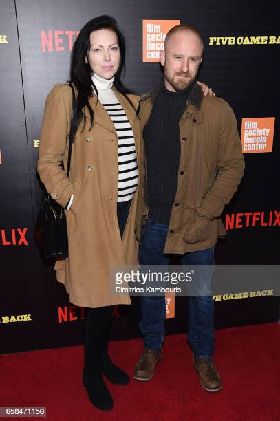 Laura Prepon and Ben Foster attend the Five Came Back world premiere at Alice Tully Hall at Lincoln Center on March 27 2017 in New York City