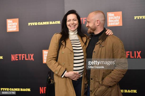 Laura Prepon and Ben Foster attend the 'Five Came Back' world premiere at Alice Tully Hall at Lincoln Center on March 27 2017 in New York City