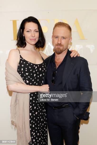 Laura Prepon and Ben Foster attend the Leave No Trace party presented by Perrier-Jouet at Nikki Beach on May 13, 2018 in Cannes, France.