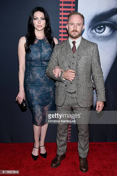 "Laura Prepon and Ben Foster attend the ""The Girl On The Train"" New York Premiere at Regal E-Walk Stadium 13 on October 4, 2016 in New York City."