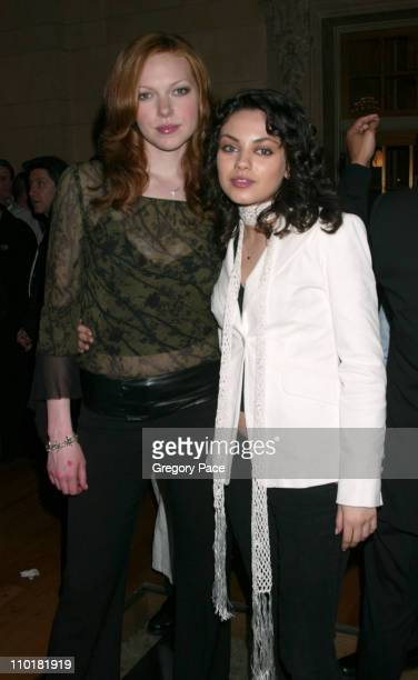 Laura Prepon and Mila Kunis of 'That 70's Show' during FOX TV Network 2003 2004 UpFront Party at Ciprianis at Grand Central Station in New York City...