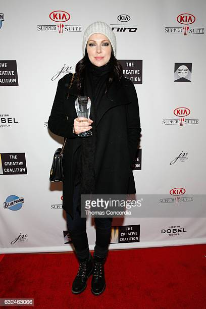 Laura Prepon award recipient at the Kia Supper Suite Hosts The Creative Coalition's Annual Spotlight Awards on January 22 2017 in Park City Utah