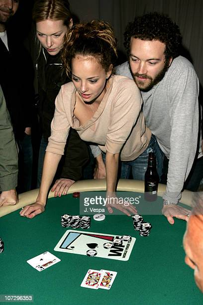 Laura Prepon Bijou Phillips and Danny Masterson during GQ and Calvin Klein Present 2nd Annual Celebrity Charity Poker Tournament to Benefit Peace...