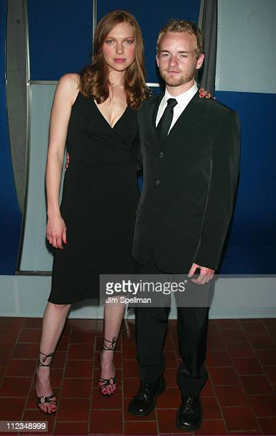Laura Prepon & Chris Masterson during Fox Television 2002-2003 Upfront Party at Pier 88 in New York City, New York, United States.