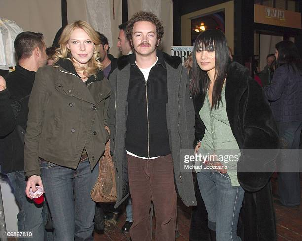 Laura Prepon Danny Masterson and Bai Ling during 2006 Sundance Film Festival Premiere Film Music Lounge Premiere Magazine Party at Premiere Lounge in...