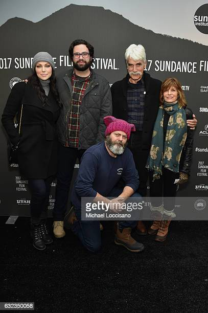 Laura Prepon director Brett Haley Sam Elliott Katharine Ross Nick Offerman attend the 'The Hero' premiere on day 3 of the 2017 Sundance Film Festival...