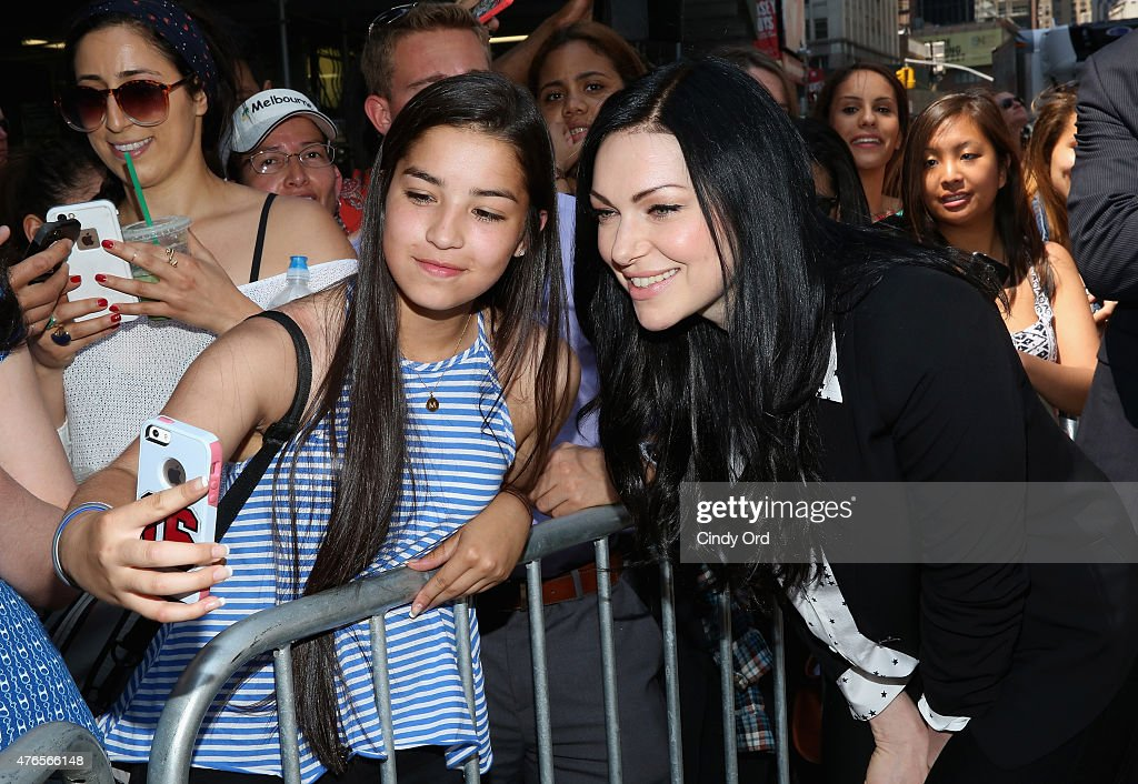 Laura Prepon from the cast of the hit Netflix original series 'ORANGE IS THE NEW BLACK' poses for a photo in New York's Times Square on June 10, 2015 in New York City. The interactive photo booths project users' photos on to enormous displays in Times Square. 'ORANGE IS THE NEW BLACK' Season 3 premieres on Friday, June 12.