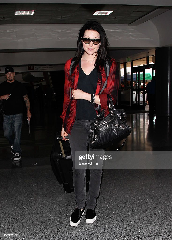 Laura Prepon is seen at LAX on June 20, 2014 in Los Angeles, California.